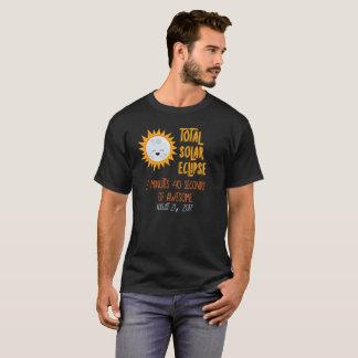 Personalised Back Emoji Total Solar Eclipse Shirt