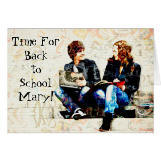 Personalised Back to School Greeting Card