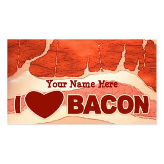 Personalised Bacon love Pack Of Standard Business Cards