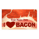 Personalised Bacon love Business Cards