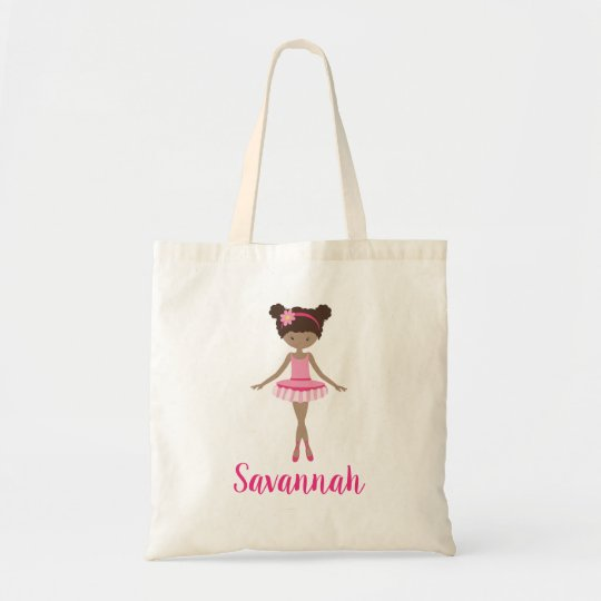 Personalised Ballerina Ballet Class Tote Bag