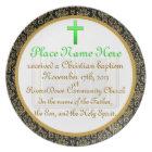 Personalised Baptism Commemorative Plate Plaque