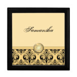 Personalised Baroque Style Jewellery Box Large Square Gift Box