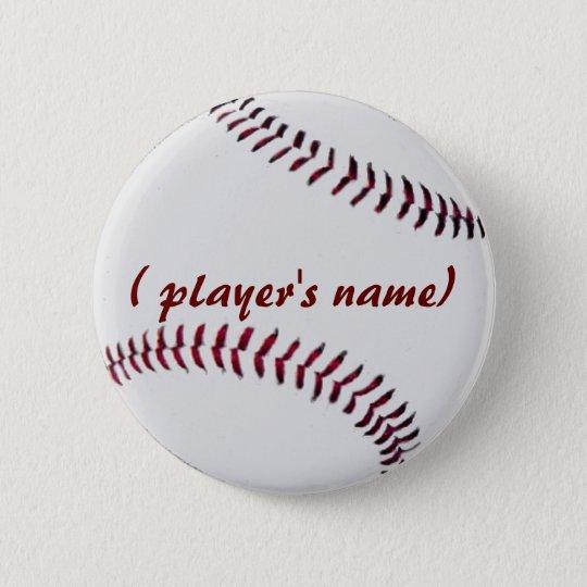 Personalised Baseball Button