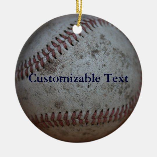 Personalised Baseball Christmas Ornament
