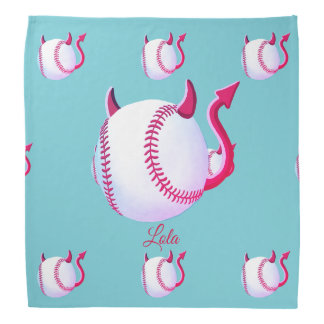"Personalised ""Baseball Demons"" (robin egg blue) Bandana"