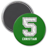 Personalised Baseball Number 5 Refrigerator Magnets