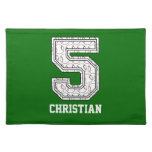 Personalised Baseball Number 5 Placemat