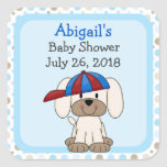 Personalised Baseball Puppy Baby Shower Stickers
