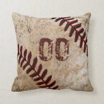 Personalised Baseball Throw Pillows JERSEY NUMBER