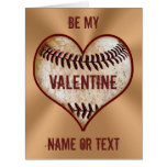 Personalised Baseball Valentine Cards for Him