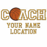 Personalised Basketball Coach Your Name Your Game Polo