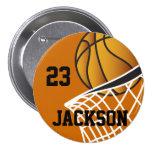 Personalised Basketball Design 7.5 Cm Round Badge