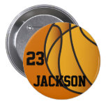 Personalised Basketball Design Button