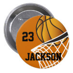 Personalised Basketball Design Pinback Button