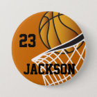Personalised Basketball Hoop Design 7.5 Cm Round Badge