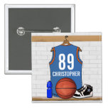 Personalised Basketball Jersey (LBO) Pin