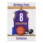 Personalised  Basketball Jersey (PG) Custom Invites