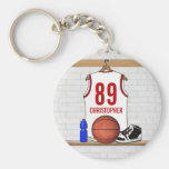 Personalised Basketball Jersey (white red)