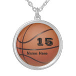 Personalised Basketball Jewellery NAME and NUMBER Pendants