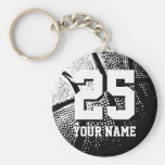 Personalised basketball keychain | name and number