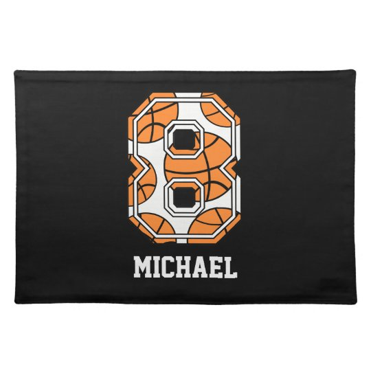 Personalised Basketball Number 8 Placemat