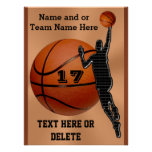 Personalised Basketball Posters Choose Poster Size