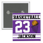 Personalised Basketball Purple and White