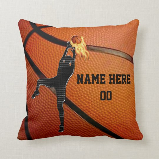 Personalised Basketball Throw Pillow withYOUR TEXT