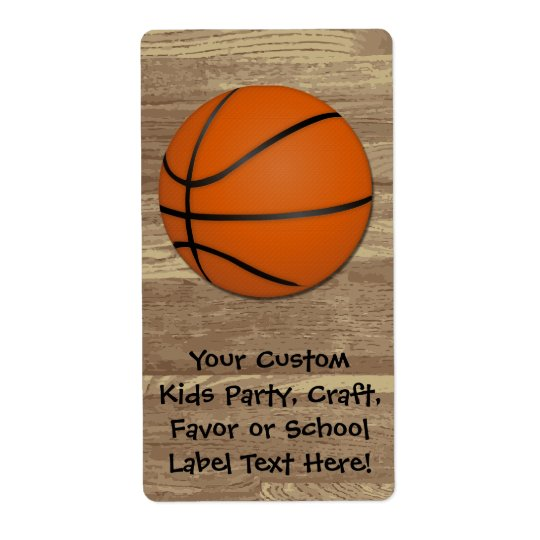 Personalised Basketball Wood Floor Shipping Label