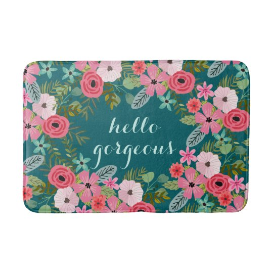 Personalised bath mat Hello Gorgeous