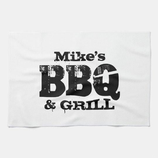 Personalised BBQ accessories Custom kitchen towel