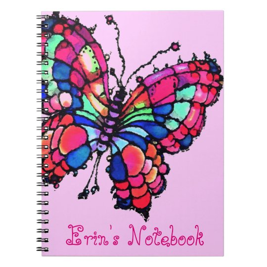 Personalised Beautiful Butterfly Notebook