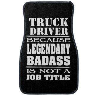 Personalised Because Job Title Legendary Badass Car Mat