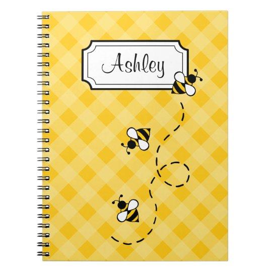 Personalised Bee School Office Notebook Gift