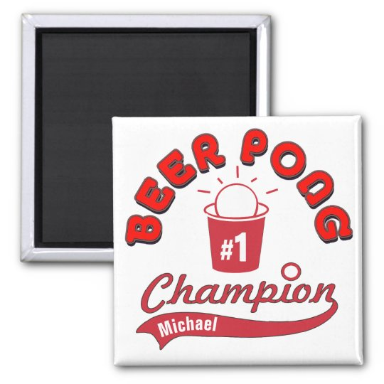 Personalised Beer Pong Champion Award Magnet