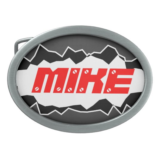 Personalised belt buckle with custom name