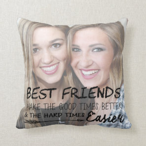 Personalised Best Friend Photo Pillow