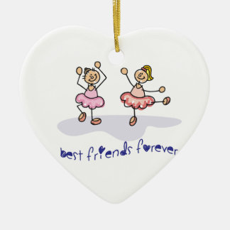 PERSONALISED BEST FRIENDS FOREVER DANCING GIRLS CHRISTMAS ORNAMENT