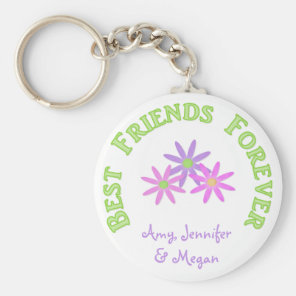 Personalised Best Friends Forever Keychain