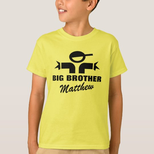 Personalised Big Brother t shirt for boy sibling