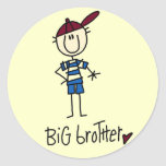 Personalised Big Brother Tshirts and Gifts Round Sticker