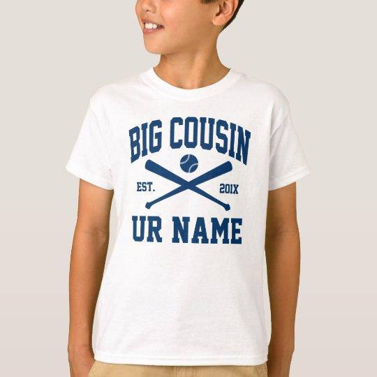 personalised big cousin baseball T-Shirt