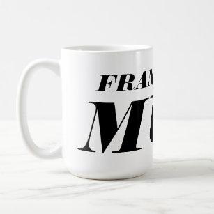 Personalised big giant jumbo XL coffee mug