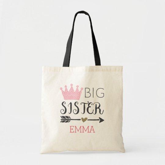Personalised Big Sister Tote Bag
