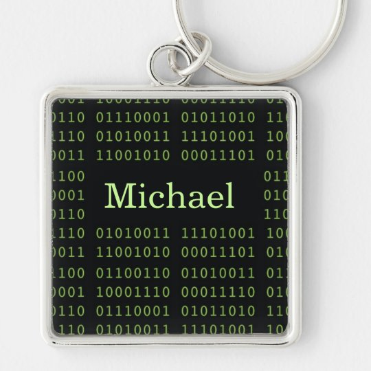 Personalised Binary Code Key Ring
