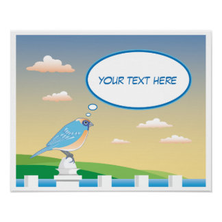 Personalised Bird by the Water Children's Poster
