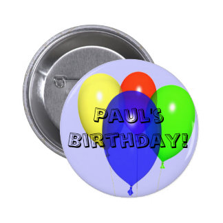 Personalised Birthday Balloons Button