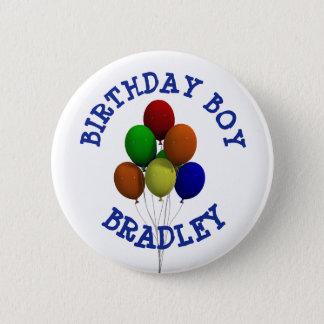 Personalised Birthday Boy Balloon  Button