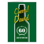 Personalised Birthday card for men | Beer beverage